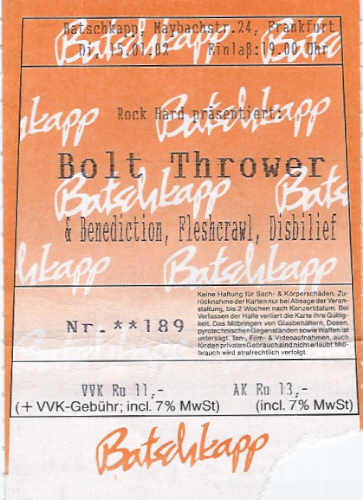 Bolt Thrower - Frankfurt Batschkapp