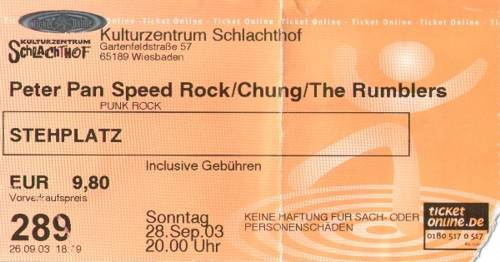 Peter Pan Speed Rock, Chung, The Rumblers :: Schlachthof
