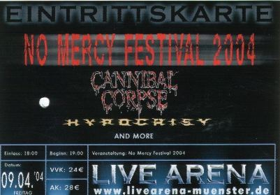 No Mercy Festival :: Cannibal Corpse, Hypocrisy