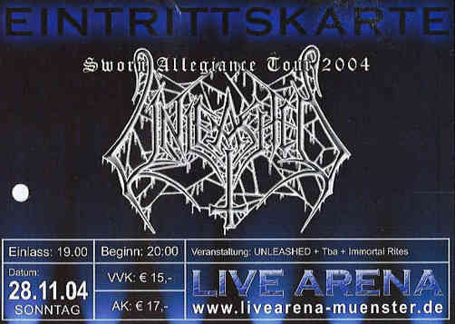 Unleashed, Live Arena, Breitefeld, 2004