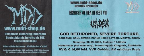 Bringer of Death Fest VII in Giebelstadt