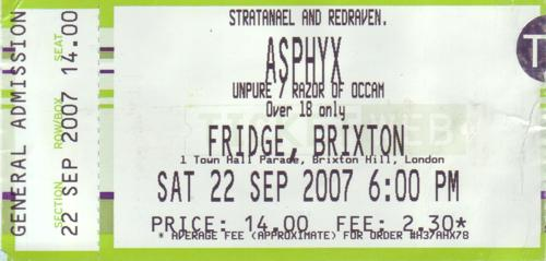 Asphyx, Unpure, Razor of Occam :: London