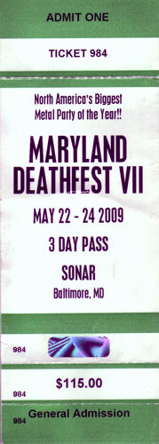 Maryland Death Fest 2009