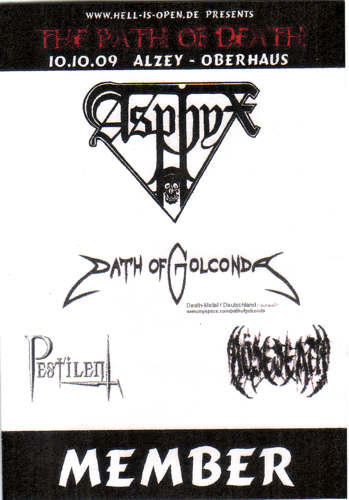 Path of Death, Alzey, 2009, Asphyx, Path of Golconda