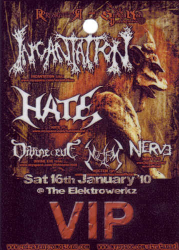 Incantation, Hate, London 2010